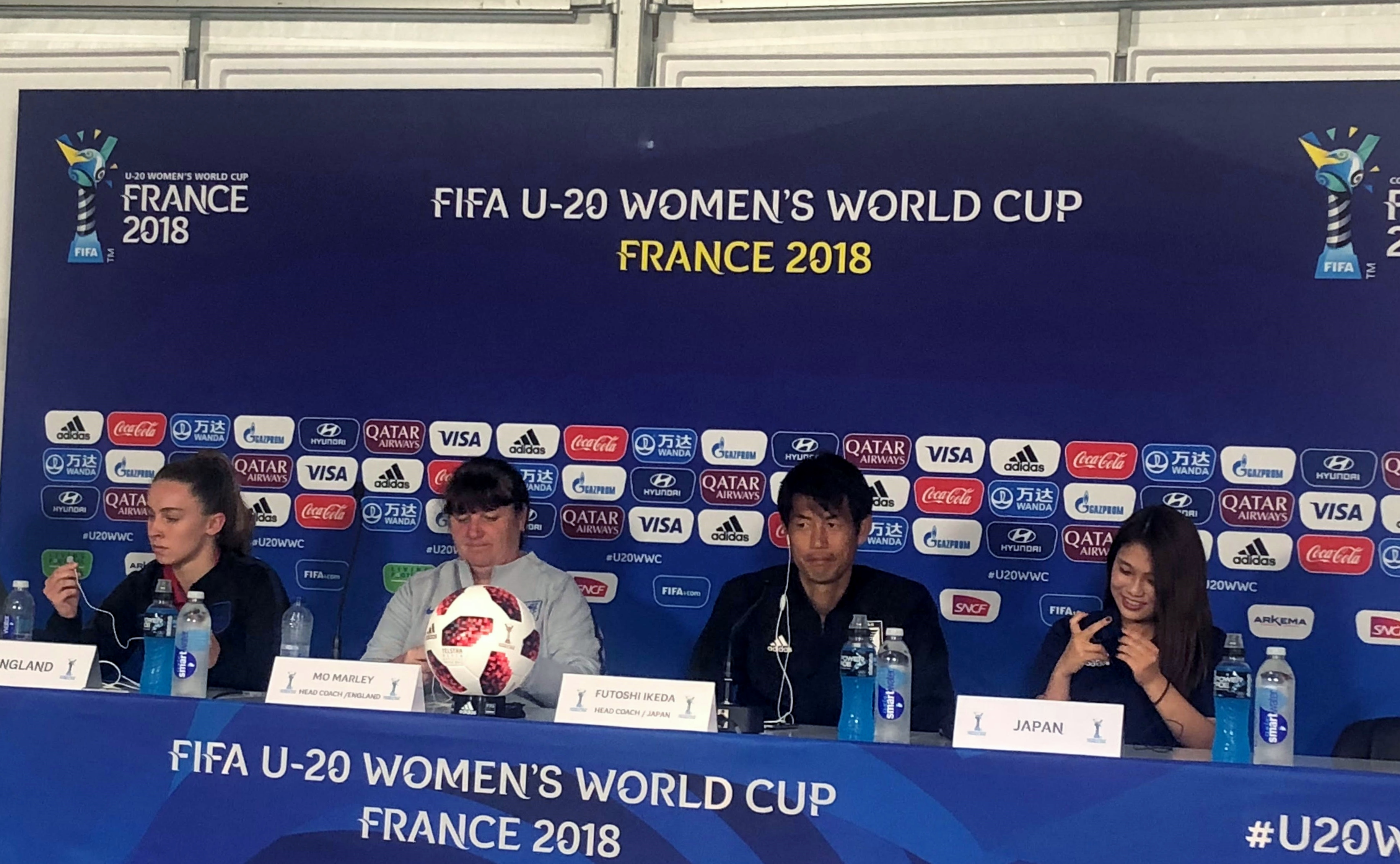 England / Japan (pre-match): Press conference of both teams