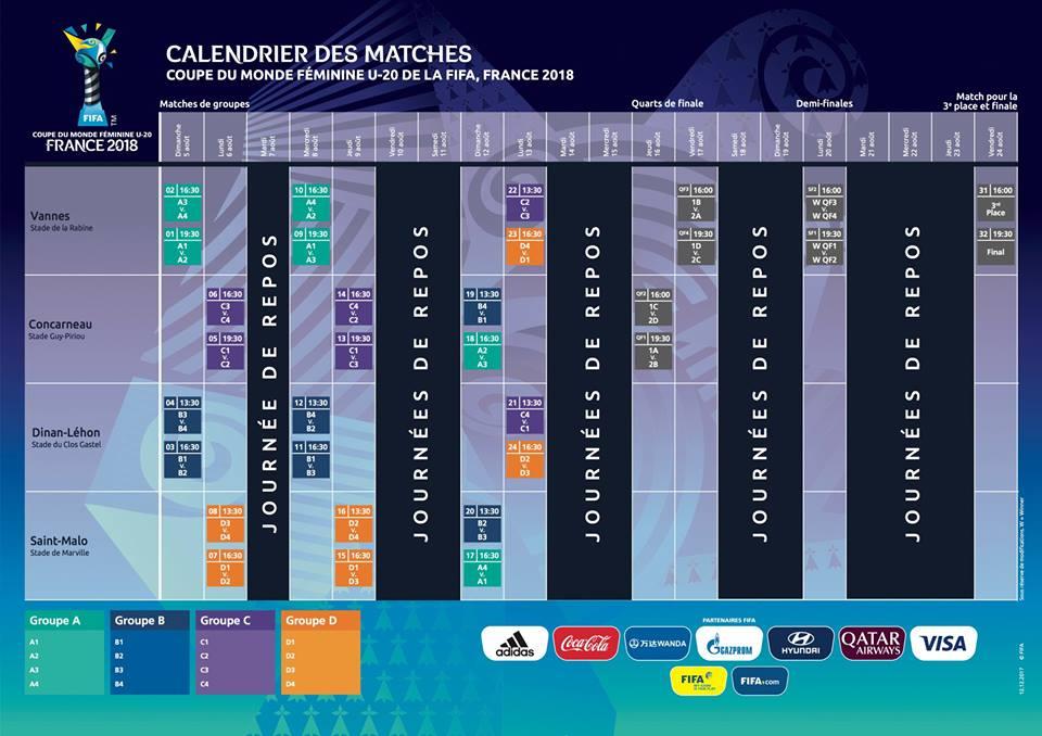 Calendrier Semi.The 2018 U20 World Cup Calendar Unveiled